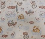 Vékony viscose textil barack színben 150 cm széles