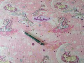 Tetra - textil pelenka méteráru - rózsaszín unikornis