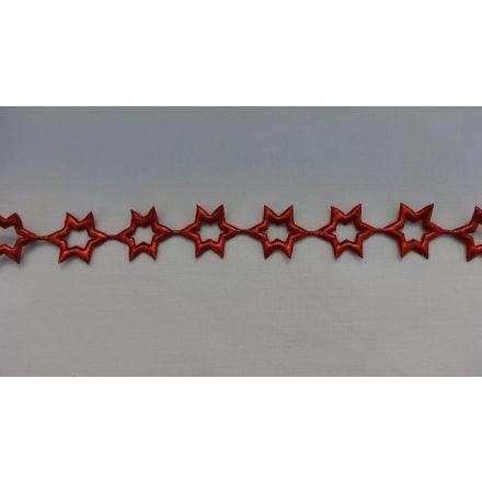 Piros csillag szalag - füzér