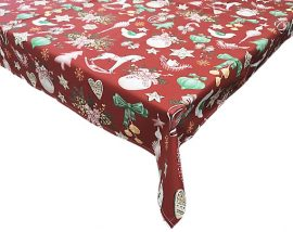 Karácsonyi asztalterítő arany indás 80 x 80 cm méretben mind két oldala használható.