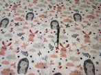 Süni - nyuszi mintás pamutvászon textil 160 cm