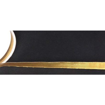 9 mm széles lurex szalag, arany színben.