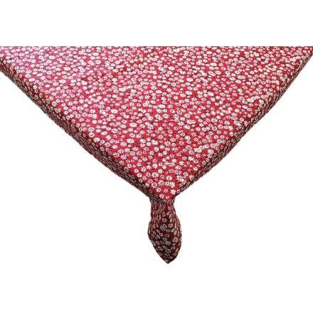 Bézs margarétás viaszos vászon asztalterítő 140x220 cm