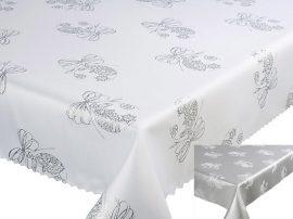 Bézs virágos, foltálló terítő- asztalközép 40x140 cm.