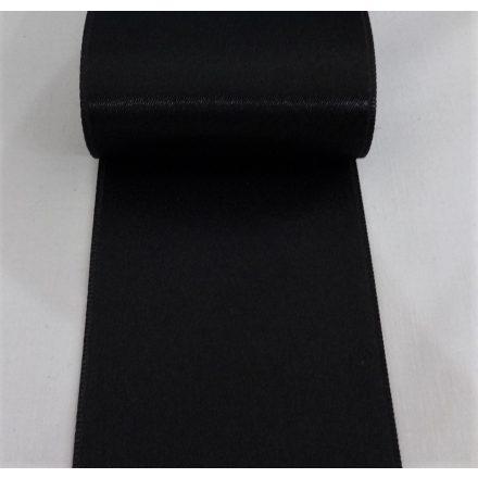 Szatén szalag kétoldalas, fekete színű, 65 mm széles.