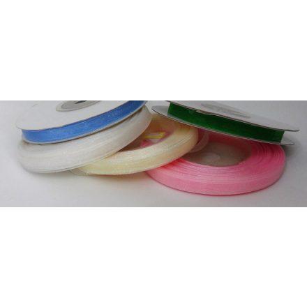 Organza szalag 6 mm széles - több színben.