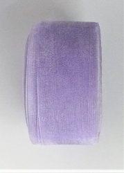 Organza szalag 40 mm széles halványlila színű.
