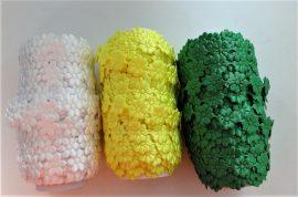 Színes virág szalag többféle variációban - 13 mm széles.