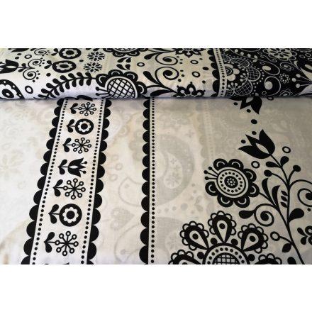 Vintage pillangós - virágos pamutvászon