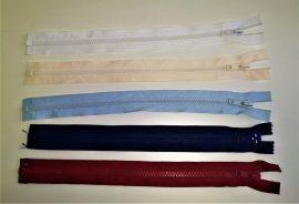 GT-10-es vastag fogú, bontható, műanyag cipzár - húzózár, 30 cm hosszú, többféle színben.