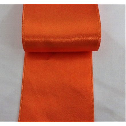 Szatén szalag kétoldalas, narancssárga, 65 mm széles.