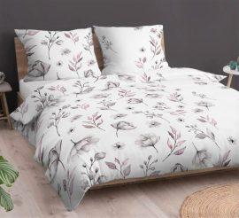140x220 cm 3 részes ágynemű huzat kék kockás - fekete csíkos