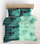 Pamut ágynemű huzat garnitúra 140x200 cm paplannal - krém színű alapon körös.