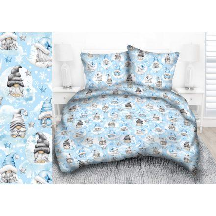 Kék manós - csillagos 3 részes ágynemű huzat garnitúra 140x200
