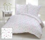 3 részes ágynemű huzat garnitúra 100% pamut szürke alapon színes virágos mintával