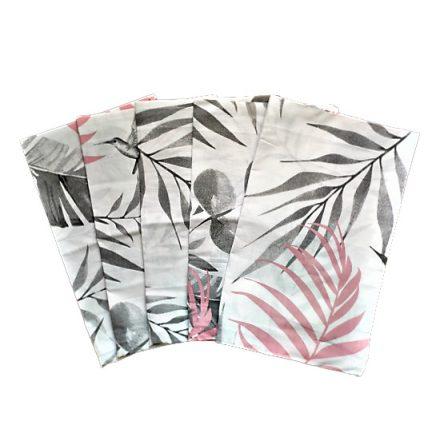 Mályva - szürke rózsa mintás kötött textil