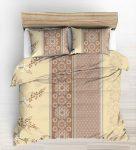 Krepp 140x200 cm fehér alapon nagy rózsás - lepkés ágynemű huzat