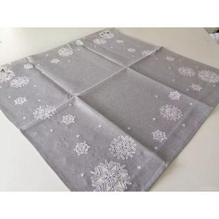Ezüst szürke hópelyhes asztalterítő 50x100 cm