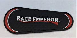 Varrható gumi folt- applikáció feliratos 7,5 x 3 cm.