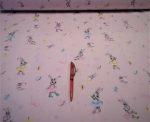 Türkizkék pandás pamutvászon 160 cm széles
