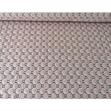 Karácsonyi mintás asztalterítő - szürke - arany - 140x220 cm