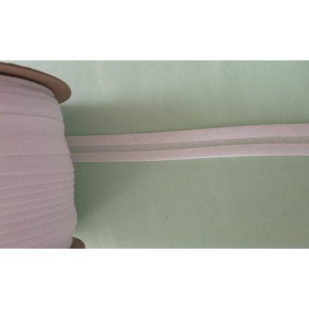 Pamut ferdepánt 18 mm - fehér