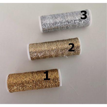 Metalux fémszál kézimunkához arany - ezüst színekben.