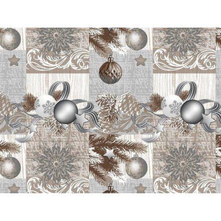 Viaszos vászon - karácsonyi képek keretben - 140 cm