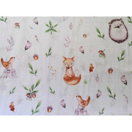Gyerek pamutvászon kék csillagos mintával.