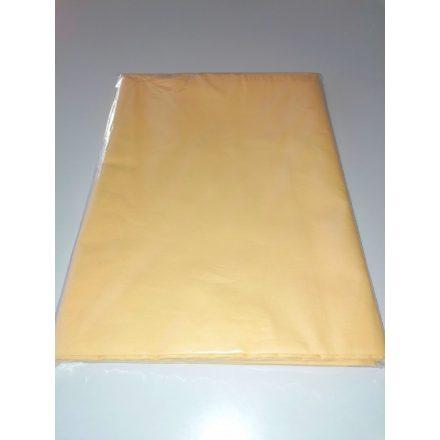 Sárga pamutvászon lepedő 150x220 cm