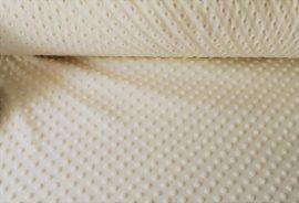 Minky textil - méteráru 160 cm széles - krém színű 300 gr/m2