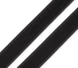 Öntapadós tépőzár szalag horgos része, 2 cm fekete