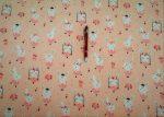 Muszlin anyag lila levél mintás - 150 cm