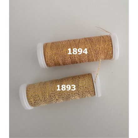 SILVA 30 fémezett poliészter szál fonat horgoláshoz, hímzéshez kétféle aranyben.