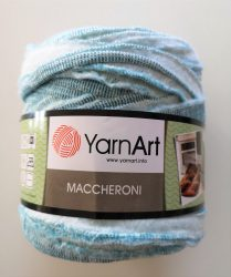 Yarn Art spagetti - póló fonal zöld círmos - D300