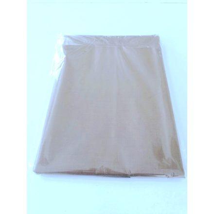 Barna színű pamutvászon lepedő 220x240 cm