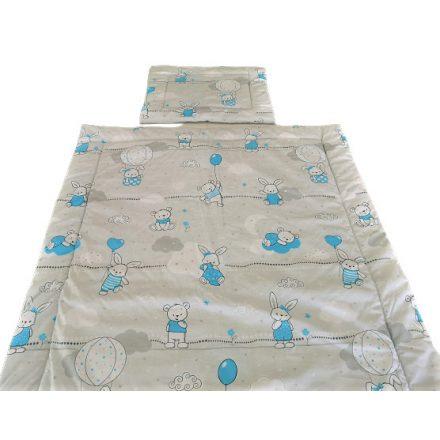 Kék nyuszis - macis 2 részes gyermek garnitúra