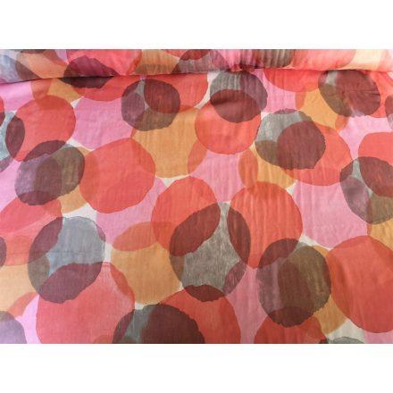 Kör mintás muszlin textil - 140 cm