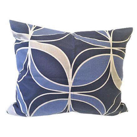 Drapp alapon piros-fehér-fekete - virágos kispárna huzat
