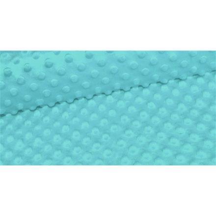 Minky textil méteráru - 350 gr/m2 160 cm széles - világos türkizkék