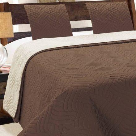 Kétoldalas ágytakaró szett 220x240 cm - barna - ekrü