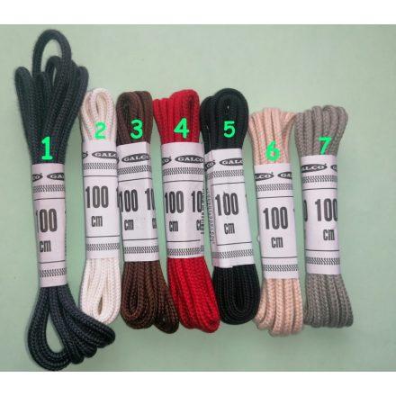 100 cm hosszú cipőfűzők többféle színben 2 mm átmérőjű