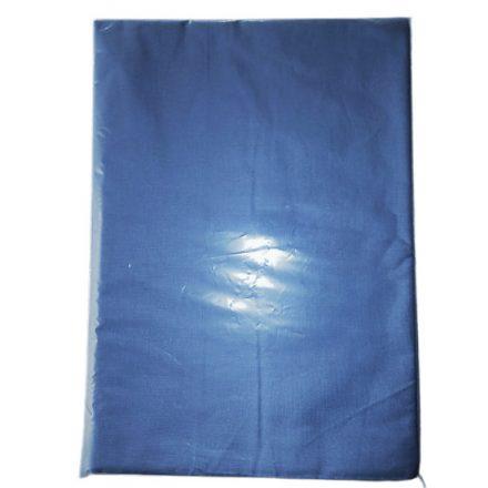 Kék színű pamutvászon lepedő 150x220 cm