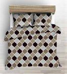 100% pamut 5 részes kék virág mintás ágyneműhuzat.