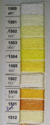 Osztott hímző Mulina Ariadna hímzőcérna - citromsárga árnyalatban