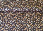 Mályva színű rugalmas farmer hatású textil - 150 cm