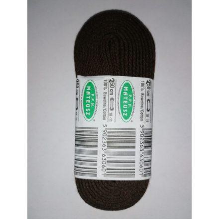 Barna cipőfűzők 250 cm hosszúak 10 mm-es