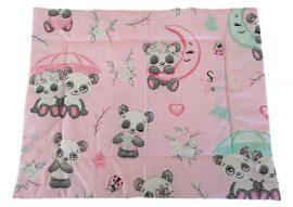 Lapos ovis kispárna - édes panda mintával