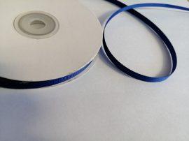 Ripsz - grosgrain szalag 6 mm - királykék