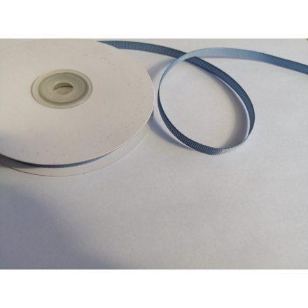 Ripsz - grosgrain szalag 6 mm - szürke